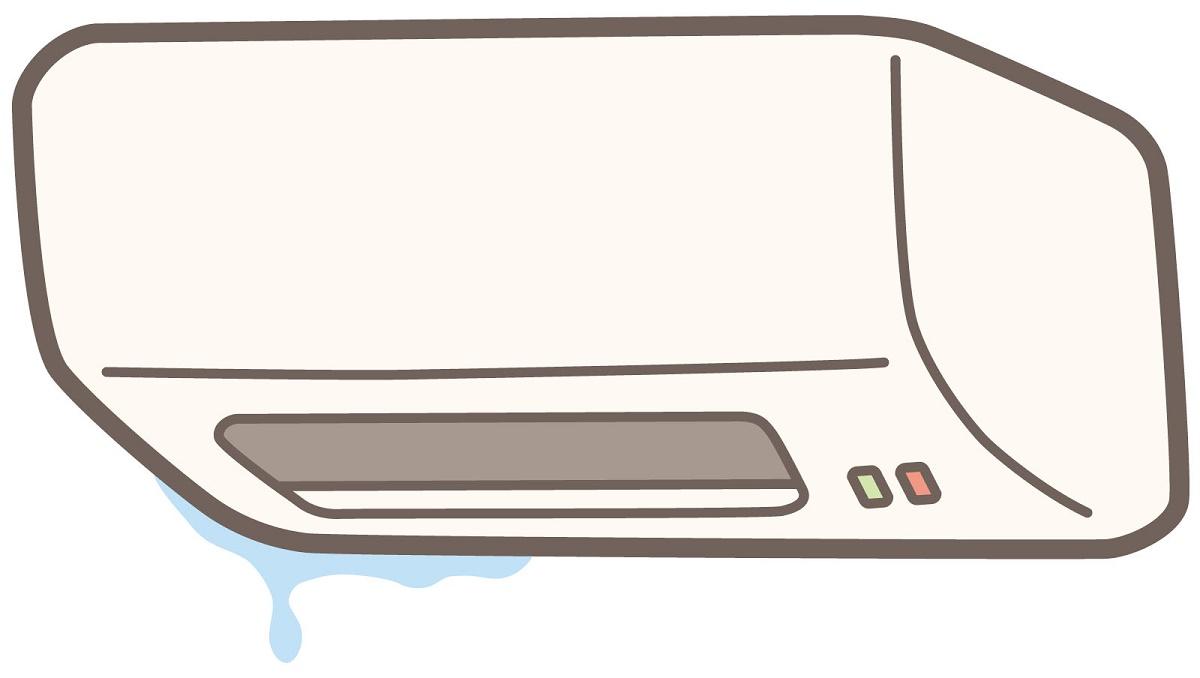 エアコン水漏れで床に水たまり、ドレンホース切って自分で直せた