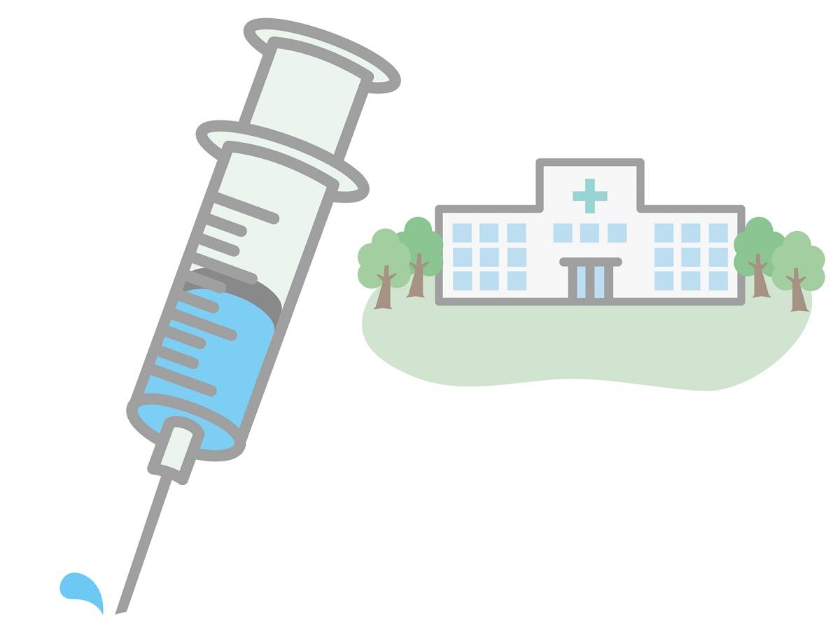 注射器と病院