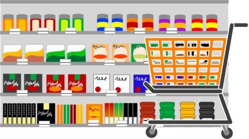 店内の商品