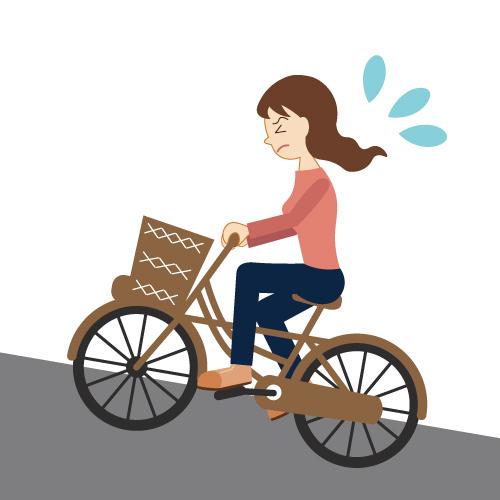 自転車で坂道を上る