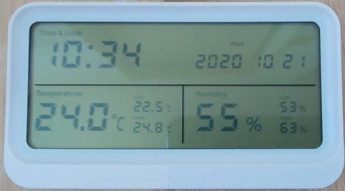 最高湿度と最低湿度