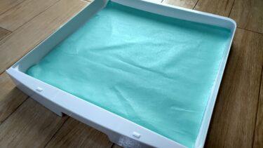 文鳥ケージのトレーが汚れず交換がラクな敷き紙